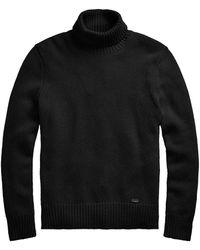 Polo Ralph Lauren Rib-knit Wool Turtleneck Sweater - Black