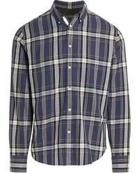 Rag & Bone Fit 2 Tomlin Plaid Flannel Shirt - Gray