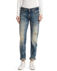 Ralph Lauren Collection - Iconic Style 320 Distressed Boyfriend Jeans - Lyst