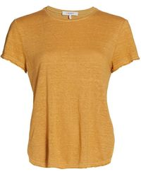 FRAME Easy True Organic Linen T-shirt - Yellow