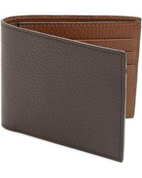 Saks Fifth Avenue - Leather Bi-color Billfold Wallet - Lyst