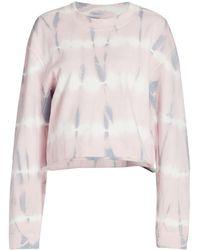 Joe's Jeans Tie-dye Boxy Sweatshirt - Pink