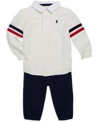 Ralph Lauren Baby's Pierced Rugby Shirt - Blue