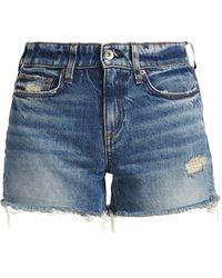 Rag & Bone Dre Low-rise Denim Shorts - Blue