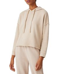 Eileen Fisher Cropped Boxy Hoodie - Natural