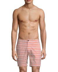 Onia - Striped Calder Swim Trunks - Lyst