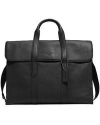 COACH Pebbled Metro Leather Shoulder Bag - Black
