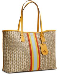 Tory Burch - Gemini Link Canvas Small Top-zip Tote - Lyst