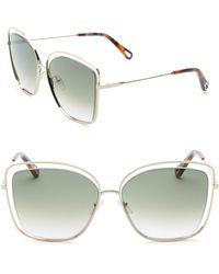 Chloé - Poppy Butterfly Sunglasses - Lyst