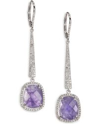 Meira T - Tanzanite, Diamond & 14k White Gold Drop Earrings - Lyst