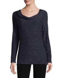 Lafayette 148 New York - Sequin Cowlneck Sweater - Lyst