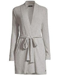 Natori Modal Belted Robe - Gray