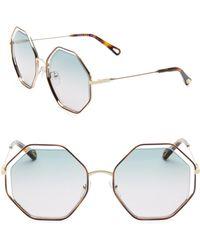 Chloé - Poppy Octagon Sunglasses - Lyst
