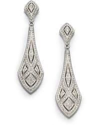 Adriana Orsini Art Deco Crystal Drop Earrings - Metallic