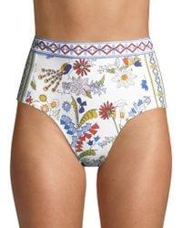 Tory Burch - Meadow Folly High-waist Bikini Bottom - Lyst