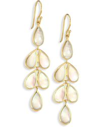Ippolita - Polished Rock Candy Mother-of-pearl & 18k Yellow Gold Linear Cascade Earrings - Lyst