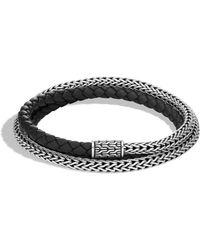 John Hardy - Classic Chain Silver Triple Wrap Extra Small Bracelet - Lyst
