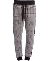 Dolce & Gabbana Plaid Sweatpants - Gray