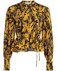 Stine Goya Aida Ren Peplum Top - Yellow