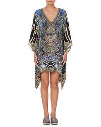 Camilla Embellished Silk Kaftan - Multicolor