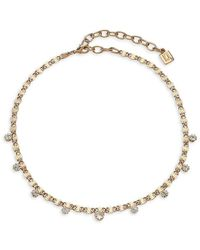 DANNIJO Audra Crystal Necklace - Metallic