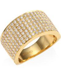 Anita Ko - Women's Diamond 18k Gold Marlow Band Ring - Yellow Gold - Lyst