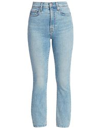 7 For All Mankind Melrose High-rise Cropped Slim Jeans - Blue