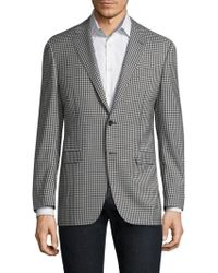 Canali - Check Wool Sportcoat - Lyst