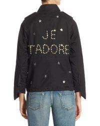 Tu Es Mon Tresor - Je T'adore Star Charm Field Cotton Jacket - Lyst