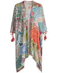 Johnny Was Boho Floral Short Kimono - Multicolor