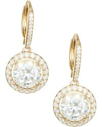 Adriana Orsini - 18k Goldplated Sterling Silver Framed Round Earrings - Lyst