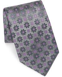 Charvet - Edelweiss Pattern Silk Tie - Lyst