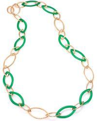 Vhernier | Pop Chrysoprase & 18k Rose Gold Marquis Chain Necklace | Lyst