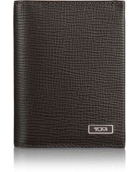 Tumi - Gusset Leather Card Case - Lyst