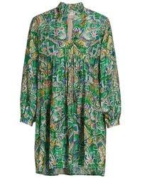 Chufy Aye Tunic Mini Dress - Green
