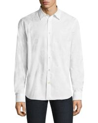 Paul Smith - Psychedlic Sun Embossed Cotton Shirt - Lyst