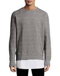 Twenty - Textured Cotton Sweater - Lyst