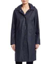 Jane Post - Hooded Waxed Jacket - Lyst