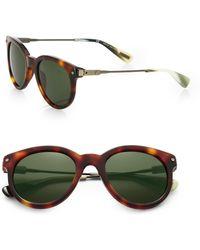 Lanvin - 49mm Tortoiseshell Acetate Round Sunglasses - Lyst