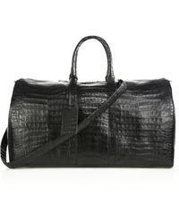 Santiago Gonzalez - Crocodile Weekender Bag - Lyst