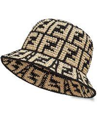 Fendi Woven Ff Bucket Hat - Multicolor
