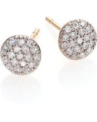 Phillips House - Affair Diamond & 14k Yellow Gold Infinity Stud Earrings - Lyst