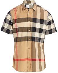 Burberry Sumerton Short Sleeved Shirt - Multicolor