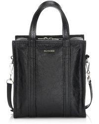 Balenciaga - Small Bazar Arena Leather Shopper - Lyst