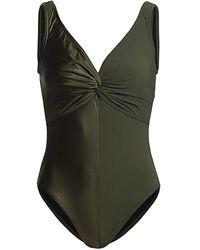 Karla Colletto Isla V-neck Full Coverage One-piece - Green
