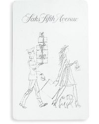 Saks Fifth Avenue Saks Gift Card - White