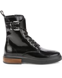 Tod's - Gomma Buckle Leather Combat Boot - Lyst