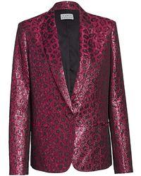 Tanya Taylor Analiese Metallic Blazer - Pink