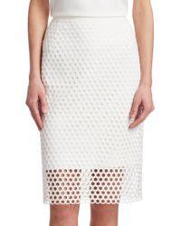 Akris Punto - Circle-lace Pencil Knee-length Skirt - Lyst