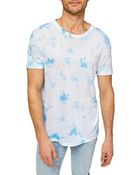 7 For All Mankind Short-sleeve Tie-dye T-shirt - Blue
